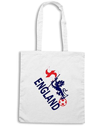 T-Shirtshock - Borsa Shopping WC0072 ENGLAND INGHILTERRA Bianco