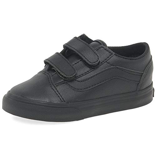 Vans Toddler Old Skool V -Fall 2018-(VN0A344KPXP1) - (Classic Tumble) Black Mono - 7C