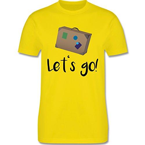 Länder - Reiselust - Herren Premium T-Shirt Lemon Gelb