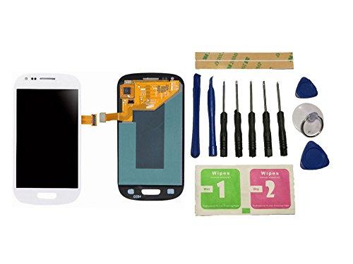 Flügel für Samsung Galaxy S3 Mini i8190 i8200 Display LCD Ersatzdisplay Weiß Touchscreen Digitizer Bildschirm Glas Assembly (ohne Rahmen) Ersatzteile & Werkzeuge & Kleber