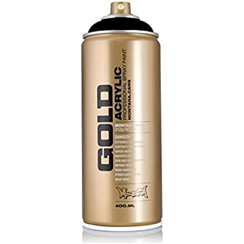 Spray Montana Gold, color negro