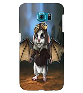 ColourCraft Funny Rabbit Design Back Case Cover for SAMSUNG GALAXY S6