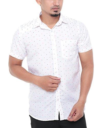 Twist Men's Arrow Regular Fit Semi Formal Shirt (Size: M to XL) (Plus size : XXL,XXXL)  available at amazon for Rs.399