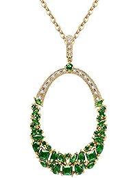 003e3cce2825 Onefeart Chapado en Oro Colgante Collar para Mujeres Niñas Pera Zirconia  Estilo Bohemio Aniversario Colgante Regalo
