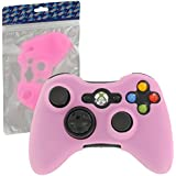 Assecure Pink Silicone Skin Cover Case for Microsoft Xbox 360 Controller