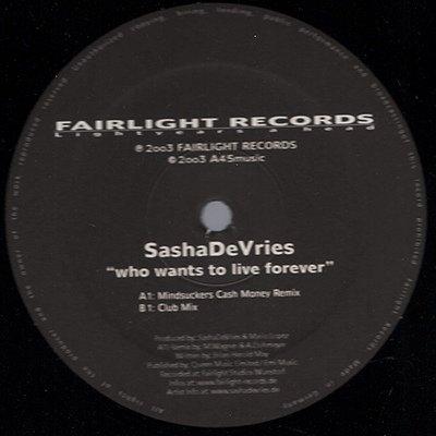 Who wants to live forever (Mindsuckers Cash Money Remix/Club Mix, Queen/Dune-cover version) [Vinyl Single] - Dunes Club