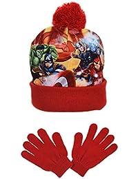 baa92a02c8b2 Marvel Avengers Fighting Position, Ensemble Bonnet et Gant Garçon