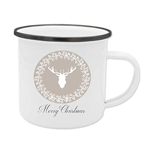 Merry Christmas, Emaille-Tasse