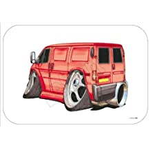 Alfombrilla de ratón de Koolart Rojo Ford Transit Van