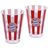 FC Bayern Glas Streifen 2er Set