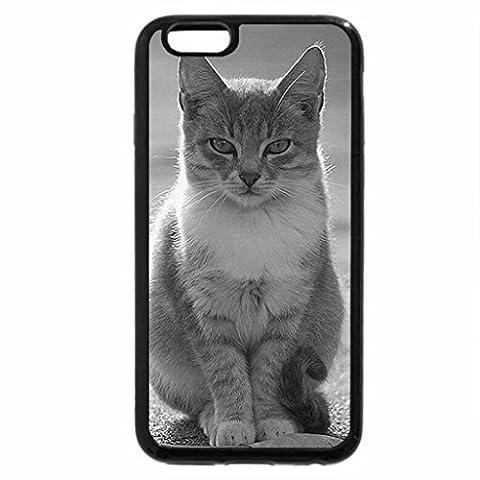 iPhone 6S Plus Case, iPhone 6 Plus Case (Black & White) - Budda_Cat