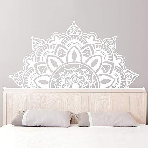 Ajcwhml Halbe Mandala Applique Kopfteil Art Deco Yoga Studio Wandaufkleber Hauptschlafzimmer Wohnkultur 138cm x 70cm