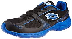 Lotto Mens Black and Royal Blue Synthetic Running Shoes (AR3162) - 8 UK/India (42 EU)