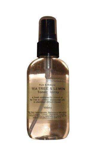 Destilliertes Hamamelis Gesichtswasser-Spray 100ml mit Teebaum & Zitrone reine ätherische öle