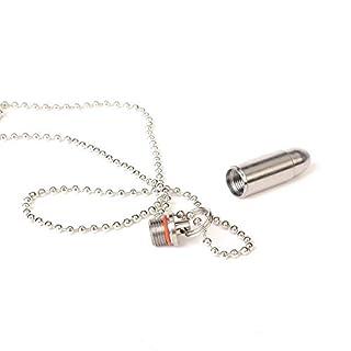 aiber Mini Titan Pille FOB Wasserdicht Bullet Pille Halter Anhänger Pille Fall mit Kette