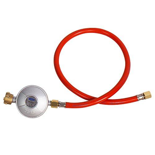 CCLIFE Gas Niederdruckregler 50mbar Gasdruckminderer regelbar Gasschlauch Neu