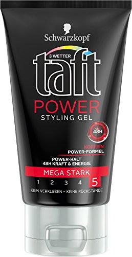Taft Potenza Styling Gel, mega forte presa, 5-pack (5 x 150 ml)