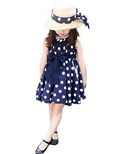 MOIKA Baby Mädchen Kleider, (2-7Years alt) 1 STÜCK Kinder Kinder Kleidung Polka Dot Mädchen Chiffon Sommerkleid Kleid