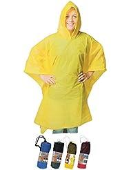Lluvia Poncho Amarillo Universal Tamaño 100x 130cm, 4colores disponible Amarillo Rojo Verde Azul Material PE