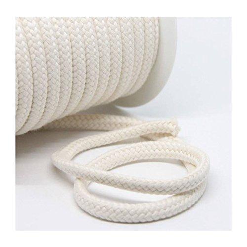 Baumwollkordel 10 mm, naturweiß, 1m, 100% Baumwolle