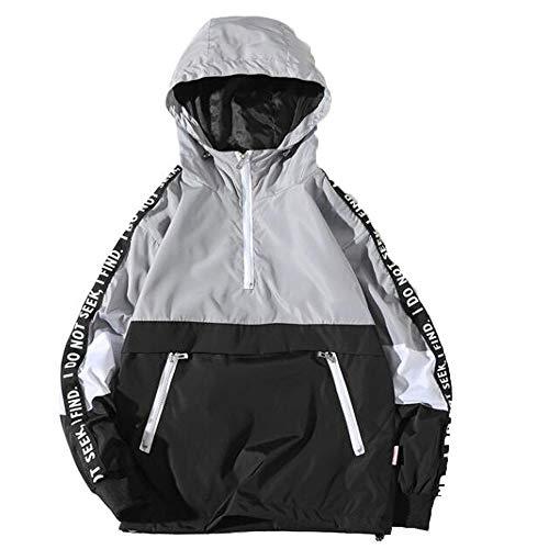 Imagen de slim fit con capucha outwear blusa de sudadera suéter de barras paralelas de costura para hombre bazhahei invierno abrigo casual sudadera con capucha chaqueta de lana capa jacket parka pullover