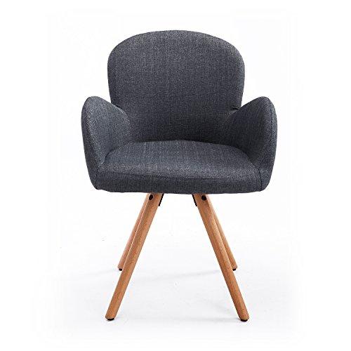 Homcom® Sedia per sala da pranzo salotto sedia poltrona sedia da ...