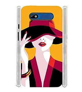 Fantasy Girl Soft Silicon Rubberized Back Case Cover for Intex Aqua R4