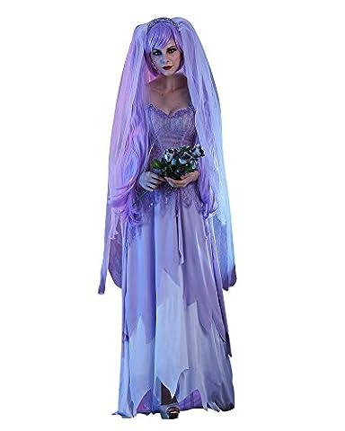 Halloween Kostüm Damen Halloweenkostüm Halloween-Party Cosplay Hölle Skelett Geist Braut Horror Geistkostüm Als Bild (Kostüm Für Halloween Bilder)