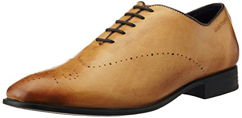 Hush Puppies Men's Fred Single Piece Brown Leather Formal Shoes - 7 UK/India (41 EU)(8243957)