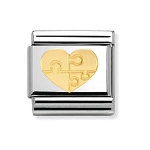 Nomination Composable Damen-Bead Edelstahl Classic Love Herz Puzzle 030116/18