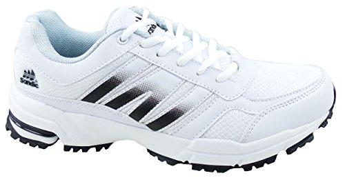 gibra , Chaussures de course pour homme blanc/noir