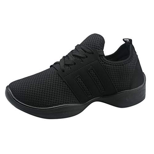 Fenverk Damen Leichte Freizeitschuhe Slip On Sneakers Atmungsaktiv Turnschuhe Bequem Sportschuhe Herren Outdoor Fitnessschuhe Sneaker Laufschuhe SchnüRer 36-41(Black,40 EU) -