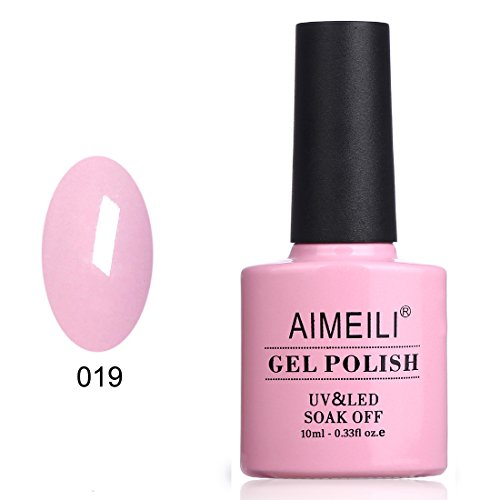 AIMEILI UV LED Gellack Gel Nagellack Rosa Pink Gel Nail Polish - Cake Pop (019) 10ml - Pop Beauty Polish Nail
