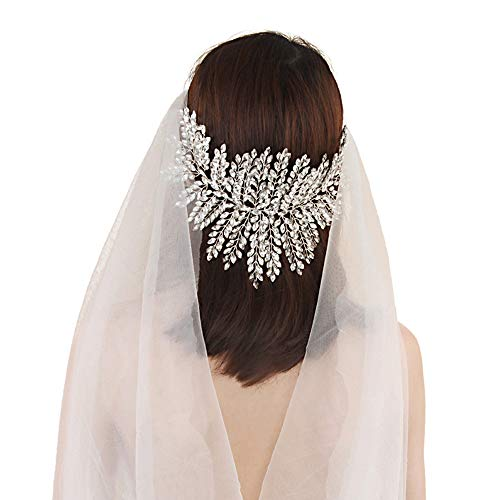 TOPQUEEN Haarschmuck für braut hochzeit haarschmuck hochzeit Silber Strass Braut Haarkamm Hochzeit Haarschmuck Tiara Diadem, Schmetterlinge (HP238) (Tiara-haar-zubehör)