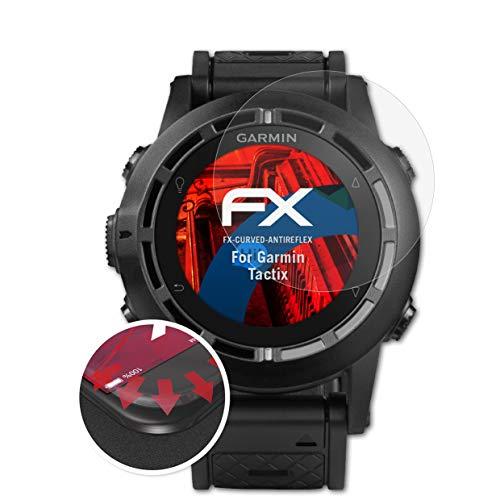 atFoliX Schutzfolie passend für Garmin Tactix Folie, entspiegelnde & Flexible FX Bildschirmschutzfolie (3X)