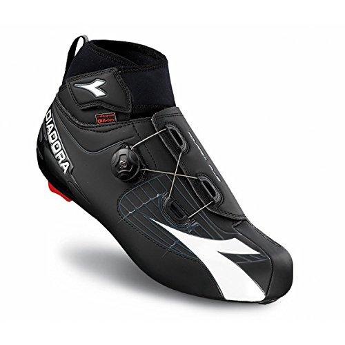 Diadora Polarex Plus Road Unisex-Erwachsene Radsportschuhe - Rennrad Schwarz (black/white 6041)