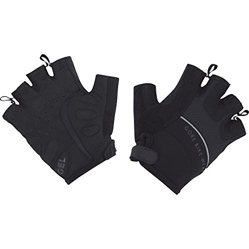 GORE BIKE WEAR GUANTES DE MUJER  CICLISMO EN CARRETERA  DEDOS CORTOS  TRANSPIRABLE  GORE SELECTED FABRICS  POWER LADY GLOVES  TALLA 6  NEGRO  GPOWEA990004