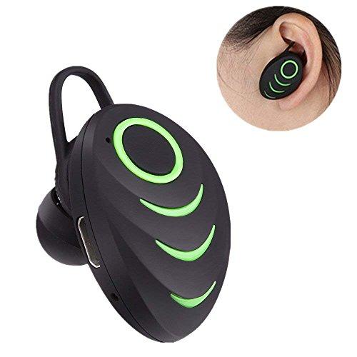 Miya System Ltd Auriculares Bluetooth Stealth, Auriculares Micro Auriculares Inalámbricos Surround Mini Auriculares con Cancelación de Ruido con Micrófono para Tabletas Móviles Conducción Deportiva - Verde