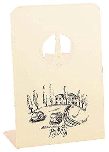 Schöne kreative nette Metallplatte geformt Bookends Bücherregal Weiß (Bc Bücherregal)
