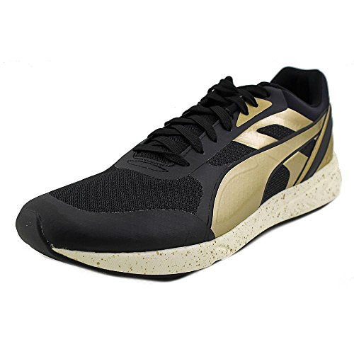 Puma 698 Ignite Metallic Synthétique Chaussure de Course Black-Metallic Gold-White