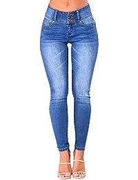 Petalum Damen Jeanshose Leggings Elegant Hohe Taille Jeanssexy Strumpfhosen Causal Hose Bleistifthose Freizeit Deim Hose
