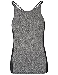 Mountain Warehouse IsoCool Sculpt Women's Vest - Lightweight, Quick Dry, Breathable, Antibacterial, Wicking IsoCool Fabric With Slim Straps & Melange Effect
