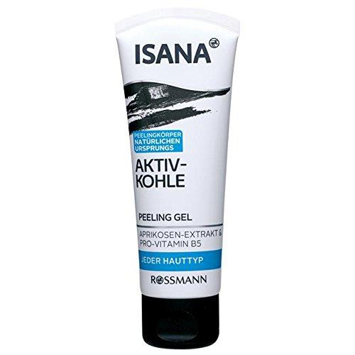 Hauttypen Weg (ISANA Aktiv Kohle Peeling Gel 75 ml für jeden Hauttyp, mit Aprikosen-Extrakt & Pro-Vitamin B5, Peelingkörper natürlichen Ursprungs)