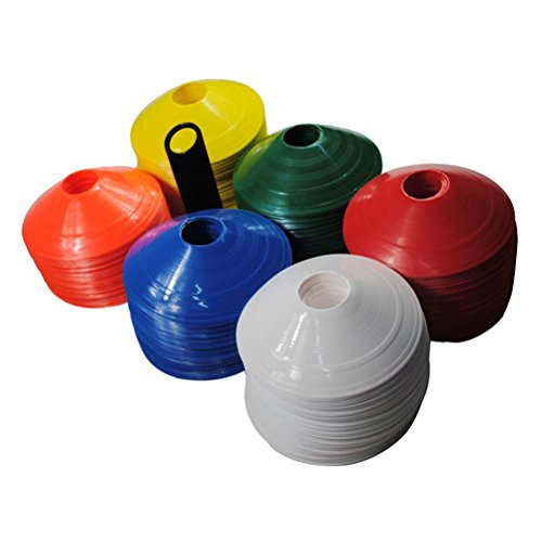jilesm 100Fußball Platz Marker Kegel Fußball Training Marker Werkzeug