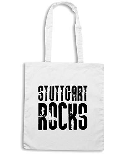 T-Shirtshock - Borsa Shopping OLDENG00257 stuttgart rocks Bianco