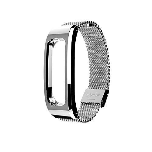 für Huawei Honor Running Band 4 Uhrenarmband,Hongtianyuan Metallarmband Ersatzarmbänder Ersatzarmband Erweiterbar Armband für Huawei Honor Running Band 4 (Silber) - Herren-erweiterbar-uhr Bänder