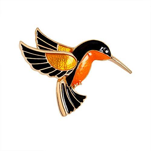hten Halloween Legierung Dek Frauen Brosche/Herren Brosche Anzug Brooch / Hochzeit Dekoration/ Geburtstags Geschenk Pin (Glazed bird brooch) (Strass Halloween-pins)