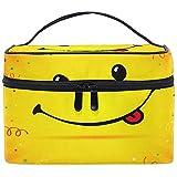 Kosmetiktasche, Smile Emoji Tragbare Reisetasche Großdruck Kosmetiktasche Organizer Fächer für...