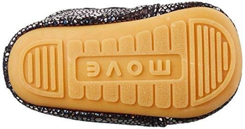 Gold Hausschuhe Velcro Baby Move amp; antique Prewalker Krabbel Gold936 Lauflernschuh Mädchen Bq0wfPx8