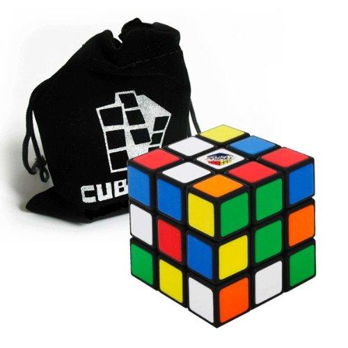 Preisvergleich Produktbild Original Rubik's Cube - 3x3 Zauberwürfel (verbesserte Version) inkl. Standfuß und Cubikon-Tasche